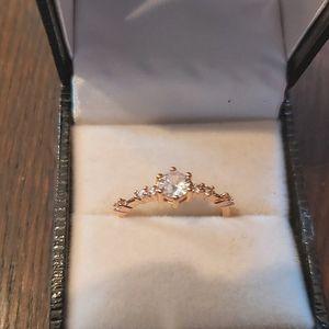 Rose gold tone feminine ring/925/rings